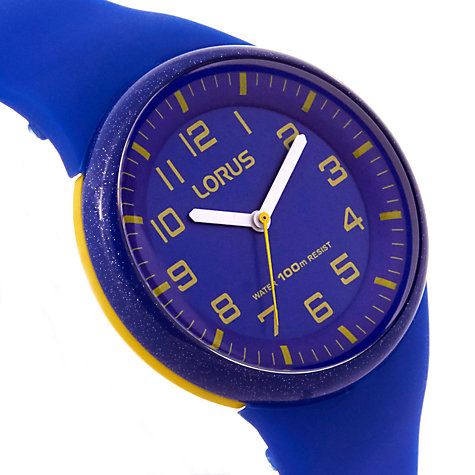 Buy Lorus RRX51DX9 Children's Easy Read Rubber Strap Watch, Blue Online at johnlewis.com