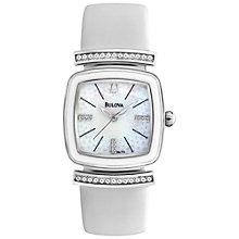 Buy Bulova 98L174 Women's Dress Mother of Pearl Crystal Dial Watch, White Online at johnlewis.com