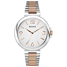 Buy Bulova 98L195 Women's Two Tone Bracelet Strap Watch, Silver / Rose Gold Online at johnlewis.com