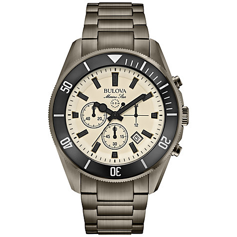 Buy Bulova 98B205 Men's Marine Star Chronograph Bracelet Strap Watch, Grey Online at johnlewis.com
