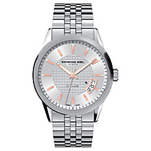 Buy Raymond Weil 2770-ST5-65021 Men's Freelancer Stainless Steel Round Dial Bracelet Watch, Silver Online at johnlewis.com