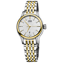 Buy Oris 56176874351MB Artelier Women's Two-Tone Bracelet Watch, Silver/Gold Online at johnlewis.com