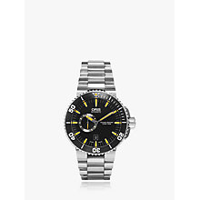 Buy Oris 74376734159MB Men's Aquis Small Second Automatic Diving Watch, Black Online at johnlewis.com