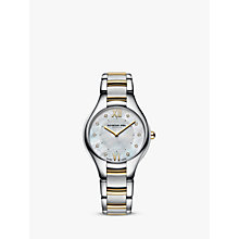 Buy Raymond Weil 5132-STP-00985 Women's Noemia Mother Of Pearl Stainless Steel Watch, Silver/Gold Online at johnlewis.com