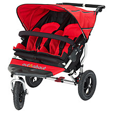 Buy Out 'N' About Nipper 360 Double Pushchair, Red Online at johnlewis.com