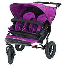 Buy Out 'N' About Nipper 360 Double Pushchair, Purple Online at johnlewis.com