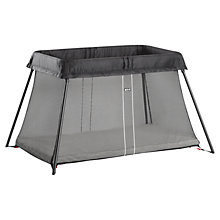 Buy BabyBjörn Travel Cot Light 2014, Black Online at johnlewis.com