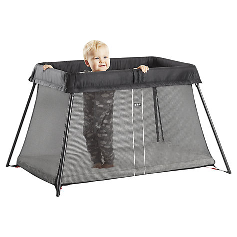 Buy Babybj 246 Rn Travel Cot Light Black John Lewis