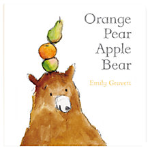 Buy Orange Pear Apple Bear Book Online at johnlewis.com