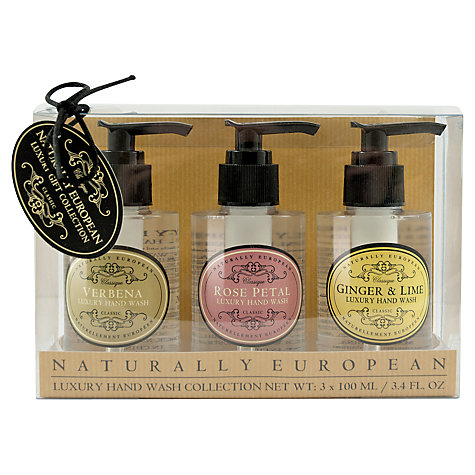 Buy Naturally European Luxury Mini Hand Wash Collection, 3 x 100ml Online at johnlewis.com