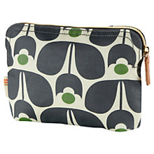 Buy Orla Kiely Fashion Print Makeup Bag, Black / White Online at johnlewis.com
