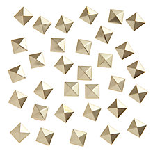 Buy John Lewis DIY 9mm Hotfix Pyramid Studs, Pack of 50 Online at johnlewis.com