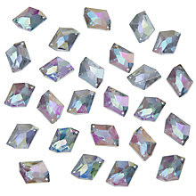 Buy John Lewis DIY Irregular Sew-on Gems, 18 x 13mm, Pack of 30, Clear Online at johnlewis.com
