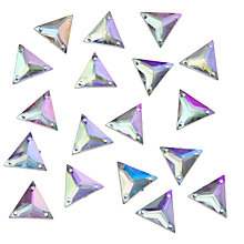 Buy John Lewis DIY Triangle Sew-on Gems, 16mm, Pack of 50, Clear Online at johnlewis.com