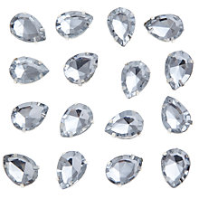 Buy John Lewis DIY Set-in Montee Pear Gems, 8 x 13mm, Pack of 20, Clear Online at johnlewis.com