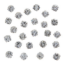 Buy John Lewis DIY Glass Montee Round Gems, 8mm, Pack of 50, Clear Online at johnlewis.com