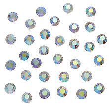 Buy John Lewis DIY Glass Montee Round Gems, 8mm, Pack of 50, AB Clear Online at johnlewis.com