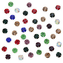 Buy John Lewis DIY Glass Montee Round Gems, 8mm, Pack of 50, Multi Online at johnlewis.com