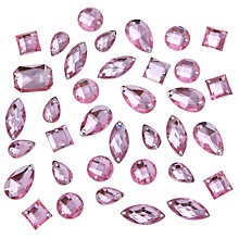 Buy John Lewis DIY Mixed Sew-on Gems, Pack of 80, Pink Online at johnlewis.com