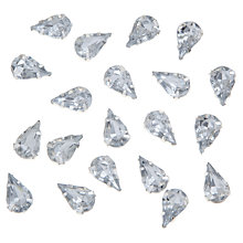 Buy John Lewis DIY Set-in Montee Teardrop Gems, 8 x 13mm, Pack of 20, Clear Online at johnlewis.com