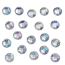 Buy John Lewis DIY Round Sew-on Gems, 12mm, Pack of 50, Clear Online at johnlewis.com