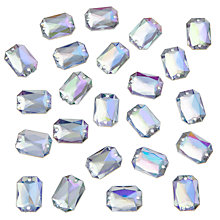 Buy John Lewis DIY Rectangular Sew-on Gems, 18 x 13mm, Pack of 30, Clear Online at johnlewis.com
