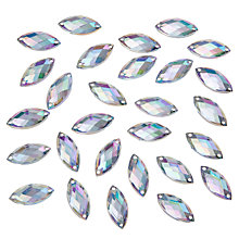 Buy John Lewis DIY Marquise Sew-on Gems, 9 x 20mm, Pack of 50, Clear Online at johnlewis.com