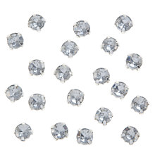 Buy John Lewis DIY Set-in Montee Round Gems, 8mm, Pack of 20, Clear Online at johnlewis.com