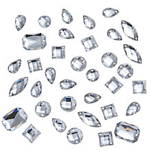 Buy John Lewis DIY Mixed Sew-on Gems, Pack of 80, Clear Online at johnlewis.com