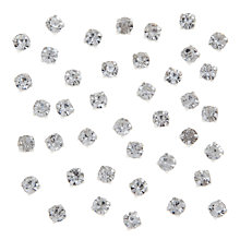 Buy John Lewis DIY Glass Montee Round Gems, 4.3mm, Pack of 50, Clear Online at johnlewis.com