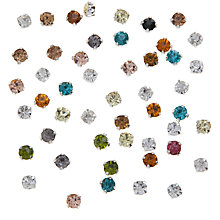 Buy John Lewis DIY Glass Montee Round Gems, 4.3mm, Pack of 50, Multi Online at johnlewis.com