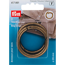 Buy Prym Bag Rings, 35mm, Antique Brass Online at johnlewis.com