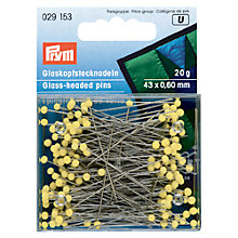 Buy Prym Glass Headed Pins, 60mm, 20g, Yellow Online at johnlewis.com
