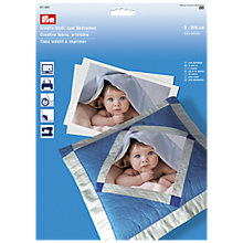Buy Prym Printable Creative Fabric, Pack of 5 Online at johnlewis.com