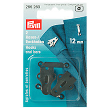 Buy Prym Hooks and Bars for Trousers and Skirts, 12mm, Pack of 2 Online at johnlewis.com