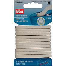 Buy Prym Bio Elastic, 5mm, White Online at johnlewis.com
