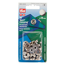 Buy Prym Press Fasteners Refill Pack, 15mm, Pack of 10, Silver Online at johnlewis.com