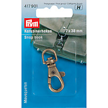Buy Prym Snap Hook, 7 x 38mm, Antique Brass Online at johnlewis.com