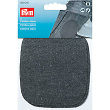 Buy Prym Iron-on Denim Patches, Black Online at johnlewis.com