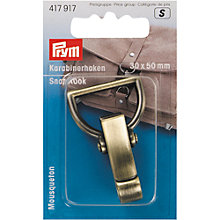 Buy Prym Snap Hook, 30 x 50mm, Antique Brass Online at johnlewis.com