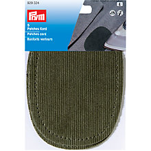 Buy Prym Iron-on Corduroy Patches, Green Online at johnlewis.com