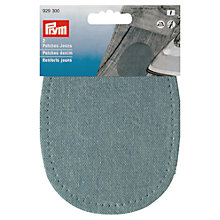 Buy Prym Iron On Denim Patches, Pack of 2, Light Blue Online at johnlewis.com
