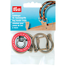 Buy Prym Bag Handle Loops, Pack of 4, Antique Brass Online at johnlewis.com