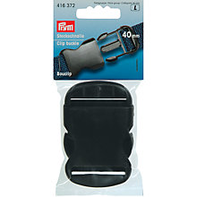 Buy Prym Clip Buckle, 40mm, Black Online at johnlewis.com