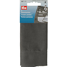 Buy Prym Trouser Pockets, 2 Pieces, Grey Online at johnlewis.com