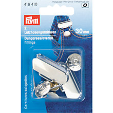 Buy Prym Dungaree Fittings, 30mm, Silver Online at johnlewis.com