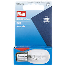 Buy Prym Sewing Machine Bayonet Bulb Online at johnlewis.com