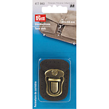 Buy Prym Tuck Lock, Brown/Antique Brass Online at johnlewis.com