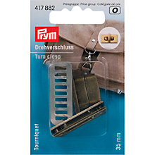 Buy Prym Turn Clasp for Bags, Antique Brass Online at johnlewis.com