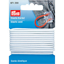 Buy Prym Elastic Cord, 2.5mm, White Online at johnlewis.com